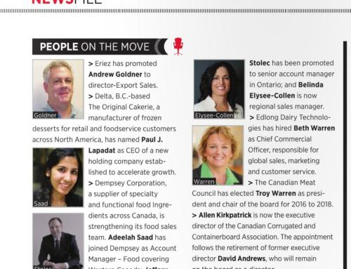 L'équipe Dempsey citée dans le magazine «Food in Canada»
